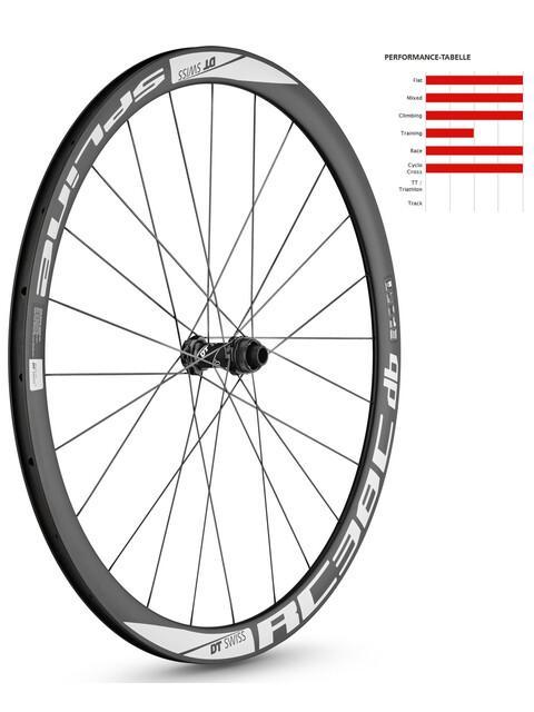 """DT Swiss RC 38 C Spline Disc Brake Laufrad 28"""" VR Carbon 100/15mm schwarz"""